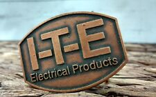 Classic Vintage Retro I-T-E Electrical Products Solid Copper Belt Buckle