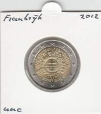 Frankrijk 2 euro 2012 UNC : 10 Jaar Euro munt