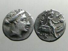 Histiaia Euboia Silver Tetrobol_Nymph Seated on Galley_Ruled By Philistides