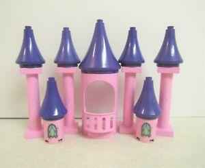 Lego DUPLO Cinderella Castle Pieces Balcony 4 Pink Pillars & 7 Purple Spires