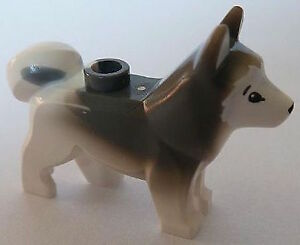 LEGO NEW Minifigure HUSKY Dog - (Artic Animal 60036) - 16606pb001
