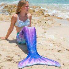Meerjungfrau Badeanzug Monoflosse Kostüme Damen Mädchen Schwanz Bademode