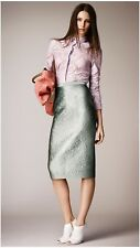 BURBERRY PRORSUM SS14 RUNWAY PALE LAVENDER LILAC LACE SHIRT BLOUSE TOP 6-8UK