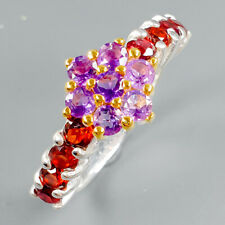Handmade Natural Amethyst 925 Sterling Silver Ring Size 7.75/R112048