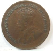 1933 Canadian One Cent Ruler: George V  KM#28  A-535