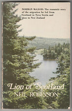 SCOTTISH IMMIGRANTS TO CANADA, then New Zealand. 1818-1850s. Pioneer History