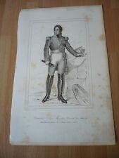 MARQUIS DE LAURISTON JACQUES  MARECHAL DE FRANCE  EN 1823  GRAVURE 19°