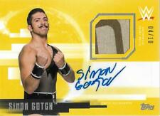 2017 Topps WWE Undisputed Autographed Relics Gold #UARSG Simon Gotch Auto /10