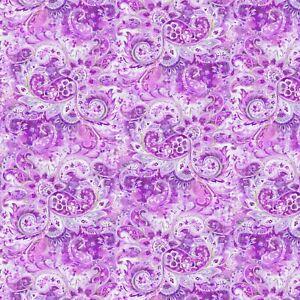 Wild Blush Purple Tonal Paisley Allover Danhui Nai Fabric by the 1/2 Yd #89222