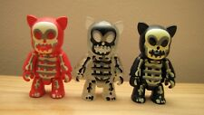 Skeleqee / X-Ray Cat Qee x3 by Toygodd in red, black & GID - NEW IN PACKAGING