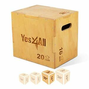 Yes4All Wood Plyo Box/Wooden Plyo Box for Exercise Crossfit Training MMA Plyo...