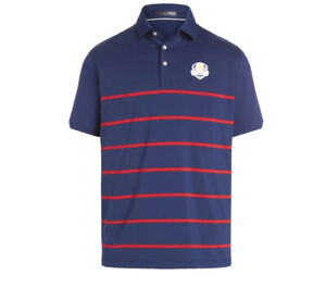 Men's RLX Navy/Red M Team USA 2020 Ryder Cup Team-Issued Tournament Polo