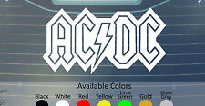AC DC VINYL DECAL STICKER CUSTOM SIZE/COLOR BLACK SABBATH MOTLEY CRUE DIO