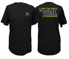 John Deere Western Shirt Mens S/s Smell Logo Cotton L Black 13001721