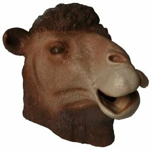 Camel Latex Mask Hump Day Zoo Animal Desert Costume Adult Accessory Prop