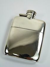 VINTAGE - Solid Sterling Silver - 2 Piece HIP FLASK - William Neal Ltd - 1916