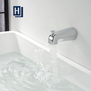 Tub Diverter Spout Bathroom Shower Bathtub Faucet Wall Mounted G1/2 Chrome