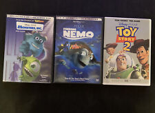 Lot Of 3 Disney Pixar Dvds Monsters Inc, Finding Nemo And Toy Story 2 (Bx4)