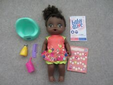 Baby Alive Potty Dance Interactive Talking Doll Black Hair Working Brown Eyes