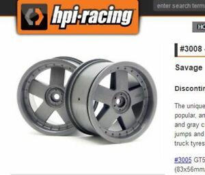 2PCS 1:8 RC TRUCK Rims HPI Savage Wheels 83x56mm/14mm Grey HPI 3008 Savage 4.6