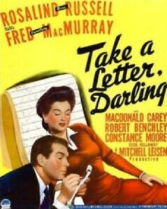 Take a Letter Darling - 1942 - Rosalind Russell Fred MacMurray Vintage Film DVD