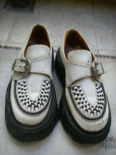 Original Shellys buckle creepers white leather 1990s