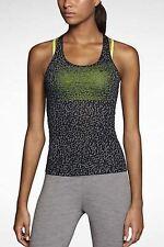 Nike sz L Mezzo 2 In 1 Tank Top Women's Shirt + Bra  NEW $65   640903 010 Black