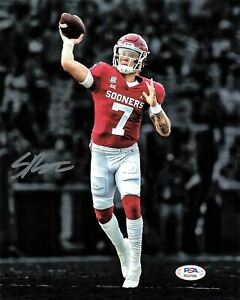 Spencer Rattler Signed 8x10 Photo PSA/DNA Oklahoma Sooners Autographed