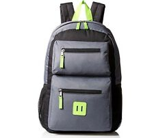 Trailmaker Big Boys  BookBag BackPack Green Gray, Double Zippered Pouch, Middle