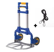 Aluminium Cart Folding Dolly Push Truck Hand Collapsible Trolley Luggage 170 lbs