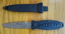 New listing WENOKA DEEP SEE TITANIUM SCUBA DIVE KNIFE W/SHEATH BLACKIE COLLINS