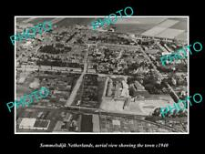 OLD 8x6 HISTORIC PHOTO SOMMELSDIJK NETHERLANDS HOLLAND TOWN AERIAL VIEW 1940 1