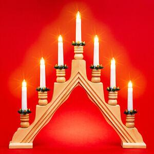 SIKORA LB49 Arco de Luz Iluminado de Navidad Elegante con 7 Velas Eléctronicas