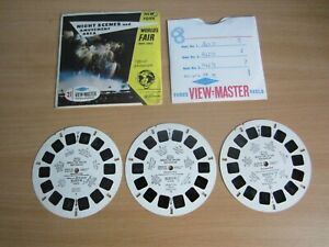 Sawyers View-Master NEW YORK World's Fair Night Scenes Amusements A672 3 Reels