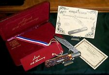 Schrade 260 Barlow Knife 80th Anniversary #1106 Very Limited W/Packaging,Papers