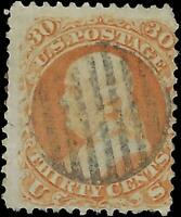 VEGAS - 1861 Sc# 71 30c - SON Cancel -Pulled Perfs Otherwise No Sig Flaws - EJ61