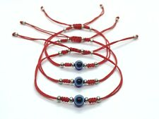 Bracelet Blue Evil Eye Protection Charm 3Pcs Kabbalah Lucky Red String Shamballa