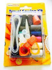 Travel Home Sewing Kit Case Needle Thread Tape Scissor Etc