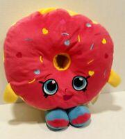 Shopkins Donut Pink Pillow Plush stuffed Hearts Sprinkles Kids Toy Cushion Girls