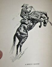 The West from a Car Window. Richard Harding Davis cowboy illustrations REMINGTON