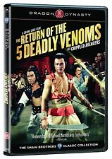 NEW DVD  - RETURN OF THE 5 DEADLY VENOMS - CRIPPLED AVENGERS - DRAGON DYNASTY