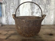 Swett #6 Cast Iron Mini Kettle Pot Bail Handle Antique Old Country Farm Rustic