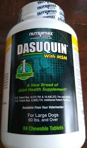 Dasuquin MSM 84 Chewable Tablets for Large Dogs 60 lbs and Over Exp 11/24