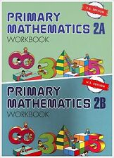 Singapore Primary Math Workbooks 2A and 2B US Edition - FREE SHIPPING