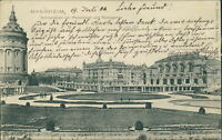 Ansichtskarte Mannheim Schmuckplatz mit Wasserturm Rosengarten 1904  (Nr.9632)