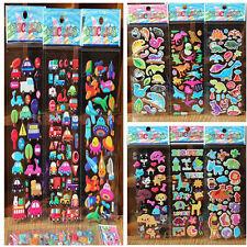 10x / Lot Blasen Aufkleber 3D Cartoon Kind Spielzeug Aufkleber Schule Belohnung