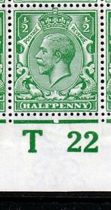 N14(17)1/2d Cobalt Green Control UNMOUNTED MINT(596)