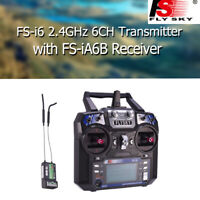 Flysky FS-i6 2.4G 6CH Transmitter FS-iA6b Receiver For Helicopter Airplane Drone