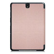 Rose Gold Slim Tri-Fold Smart PU Leather Case for Samsung Galaxy Tab S3 9.7""