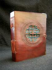 Handmade Leather Diary Sketchbook Journal Book of Shadows - Celtic Knot design